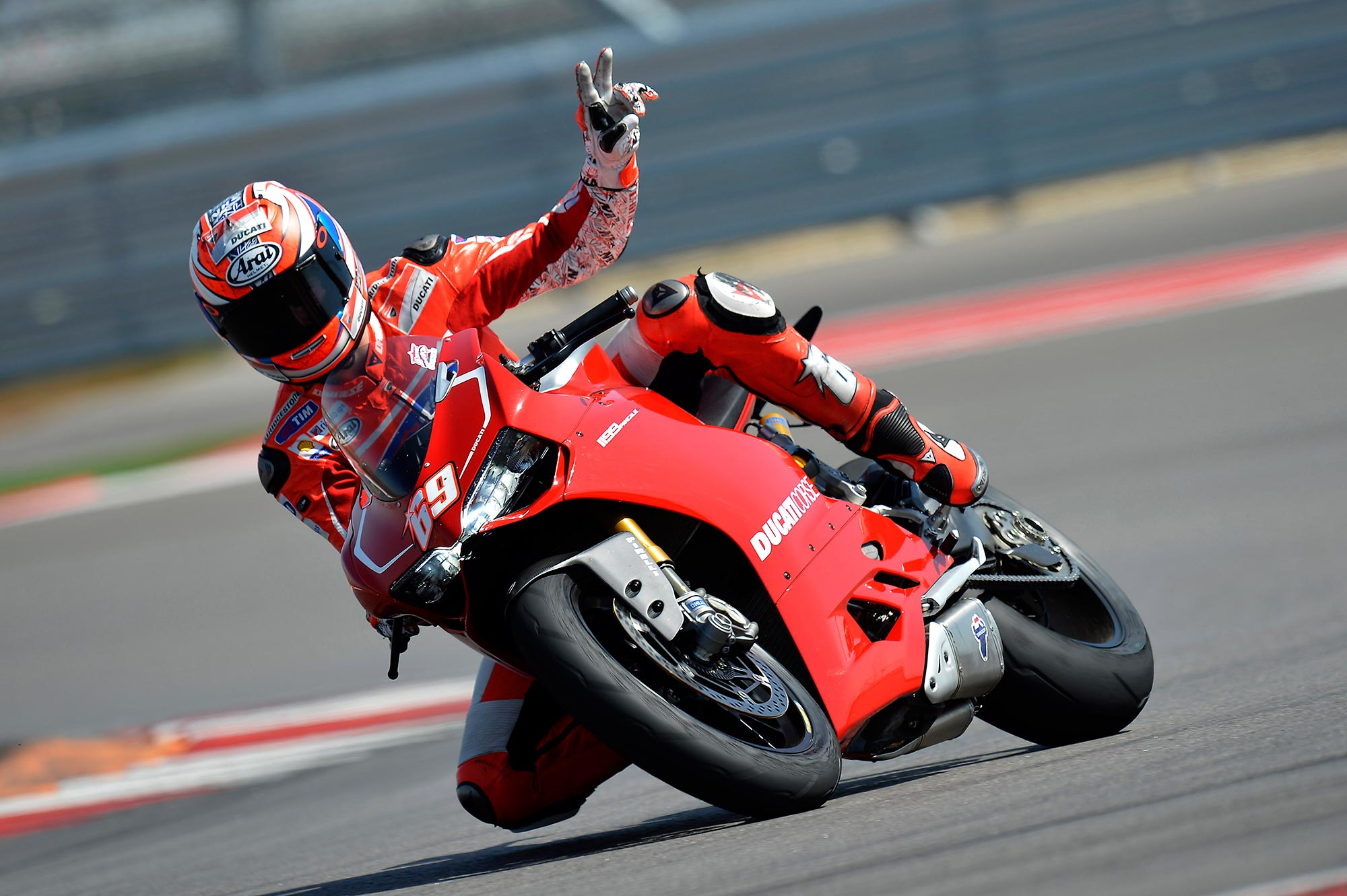 Nicky Hayden Testing the Ducati WSBK Today at Mugello - Asphalt & Rubber