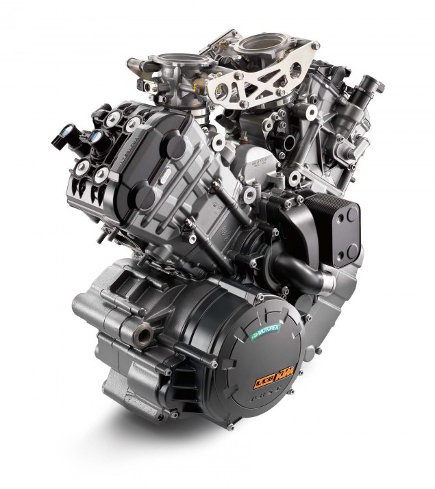 Ride Review: KTM 1290 Super Duke R 2014 KTM 1290 Super Duke R engine 02 635x714