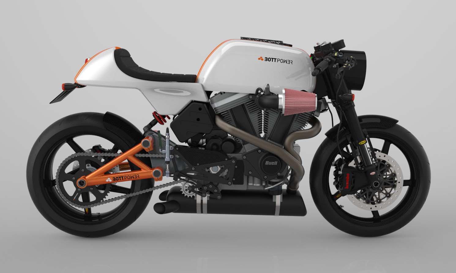 Bottpower's BOTT XC1 Cafe Racer Rendered