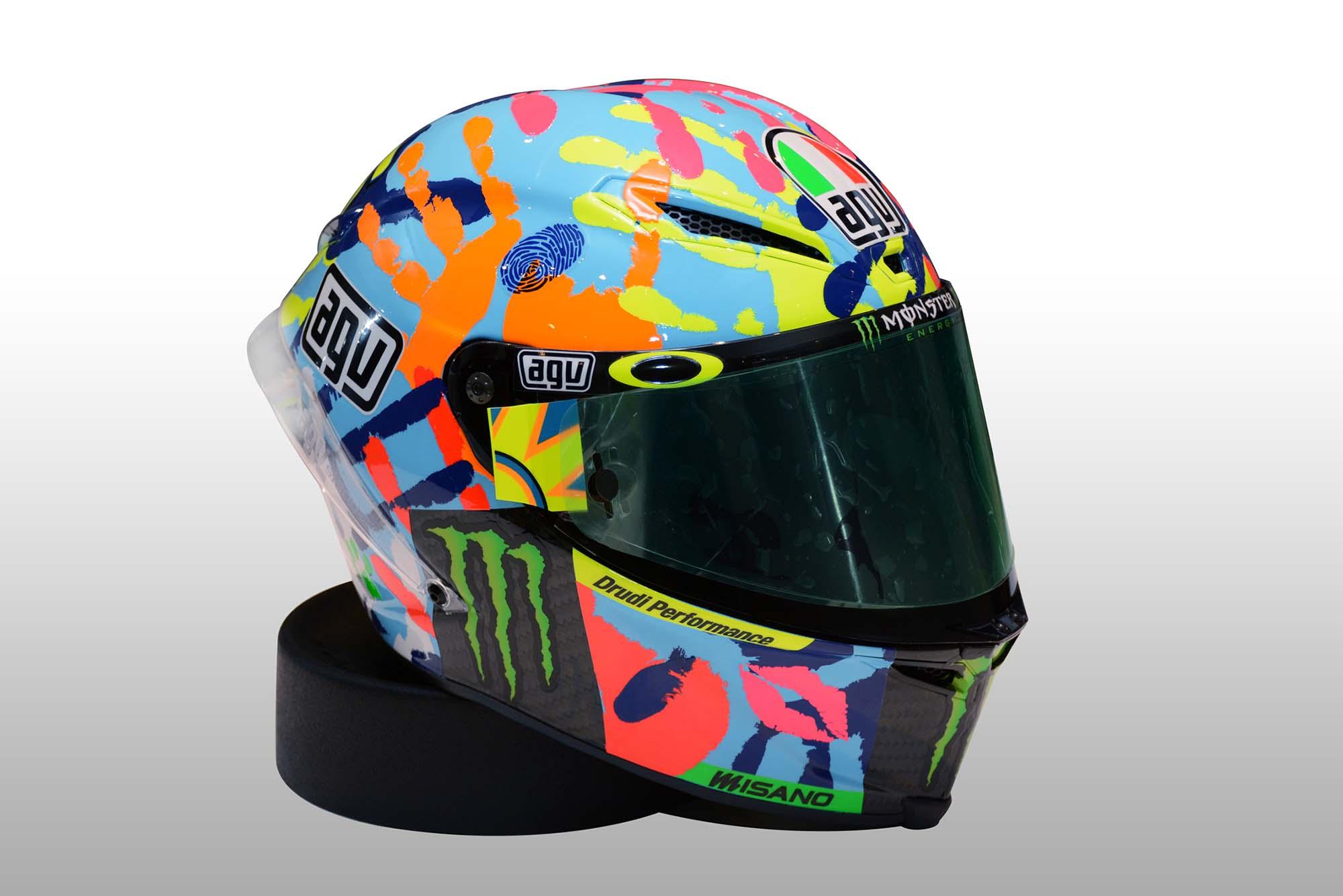Photos Valentino Rossi S Special Misano Helmet 2014
