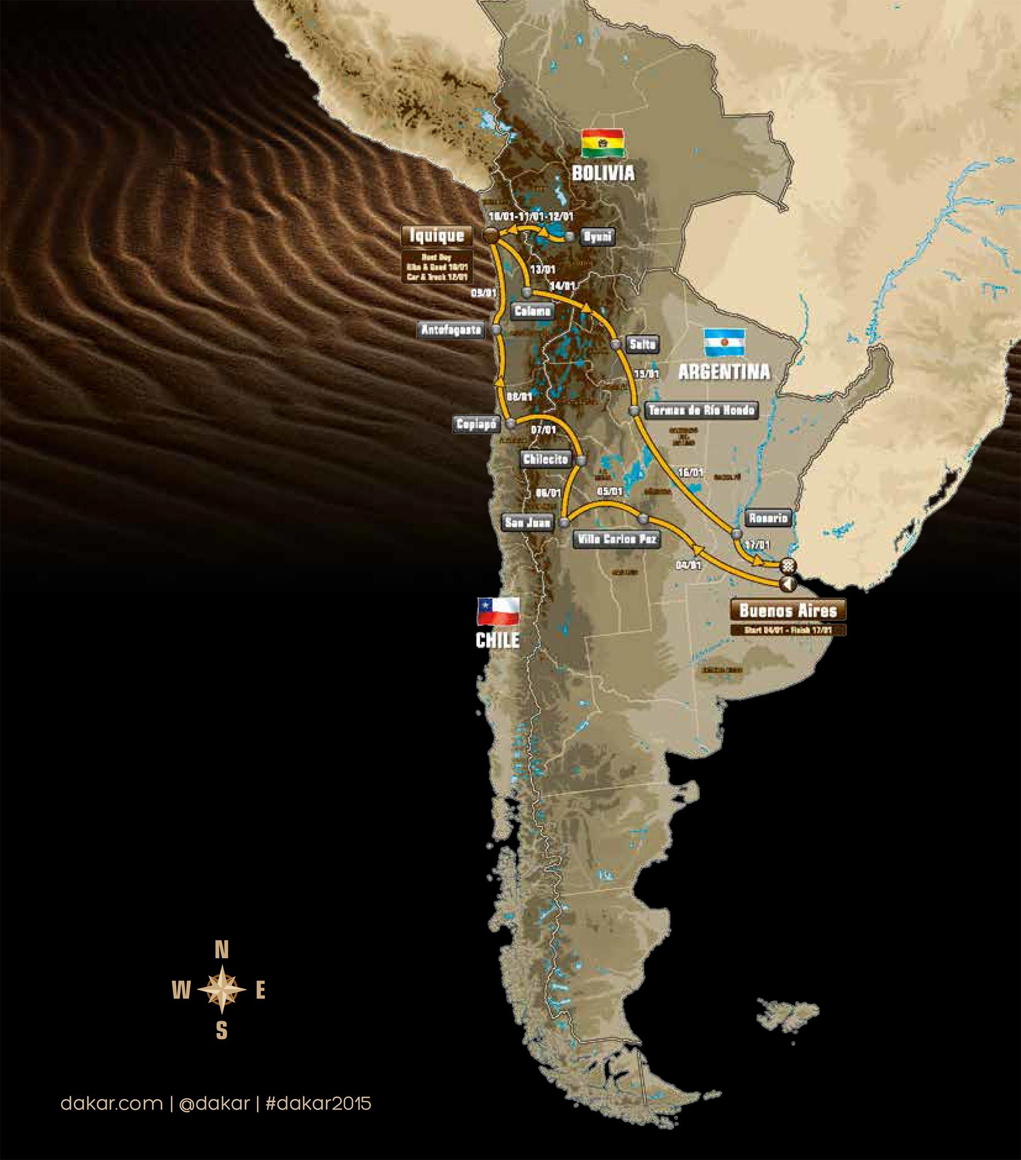 2015 Dakar Rally Details Revealed