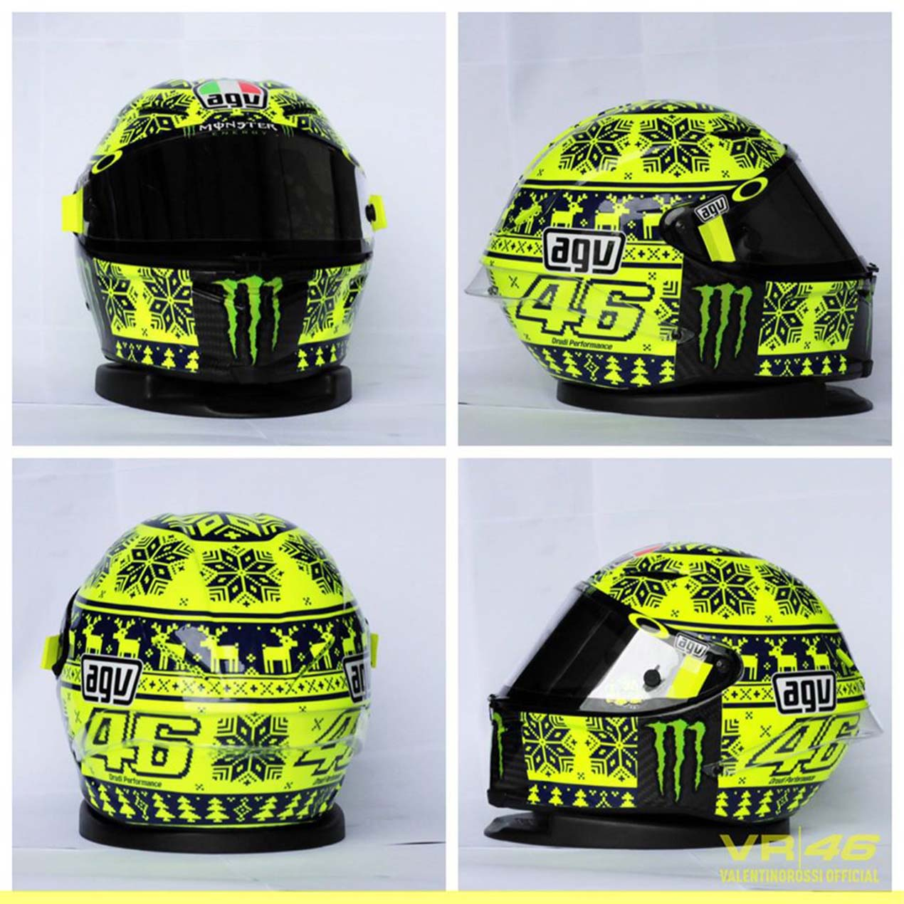 Photos Rossi S Quot Ugly Xmas Sweater Quot Helmet At Sepang