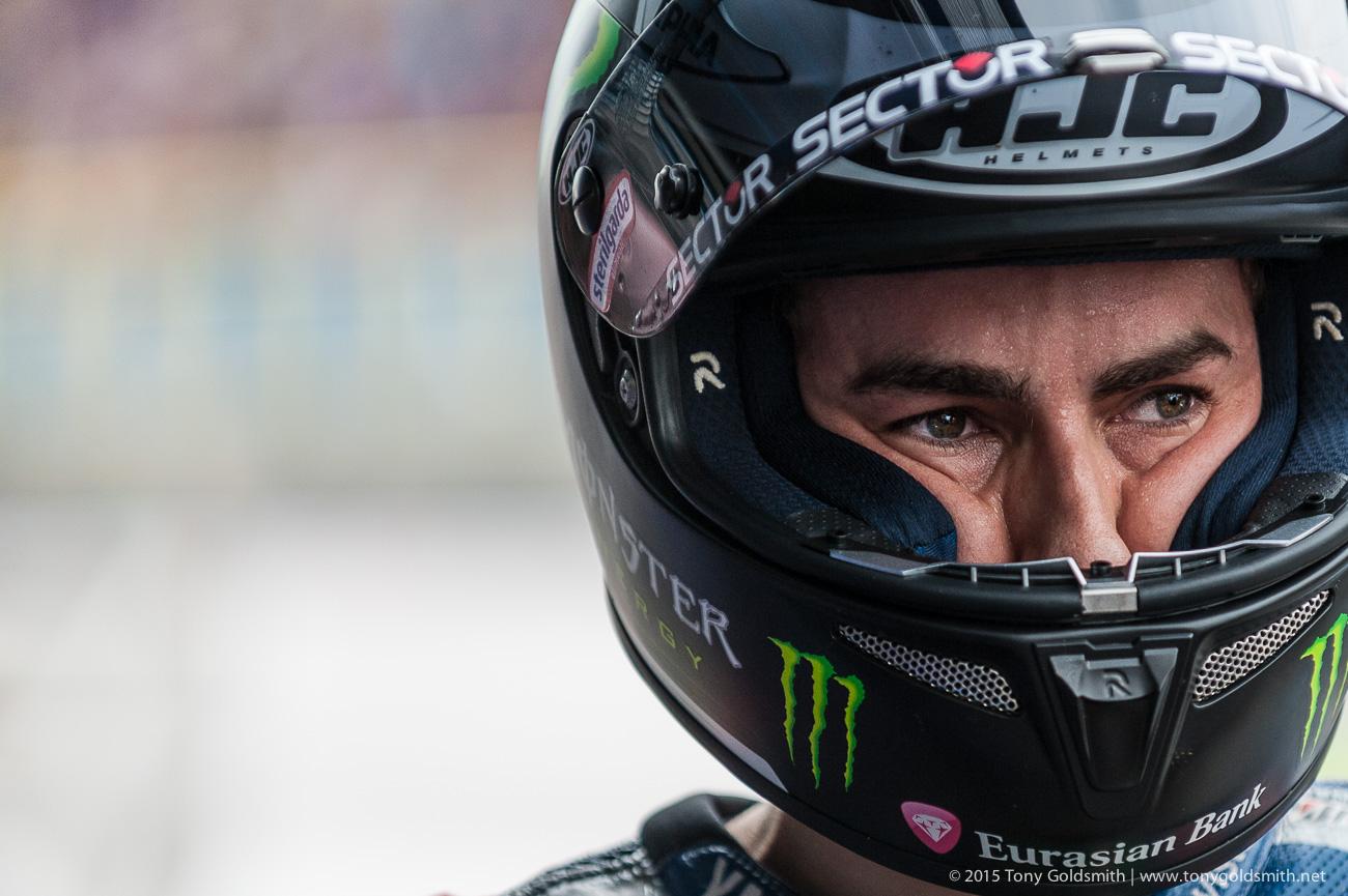 Jorge Lorenzo Drops HJC for Shark Helmets