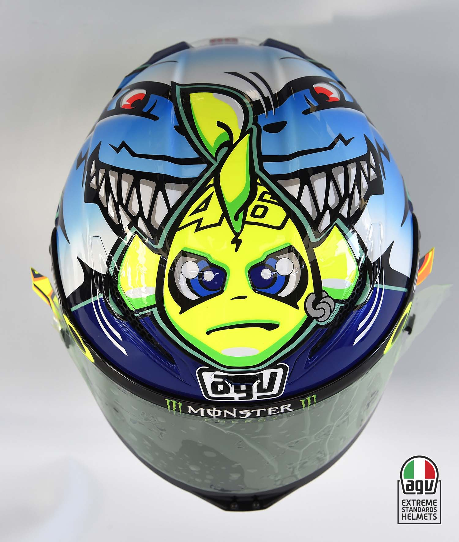 valentino rossi s 2015 misano agv helmet asphalt rubber. Black Bedroom Furniture Sets. Home Design Ideas