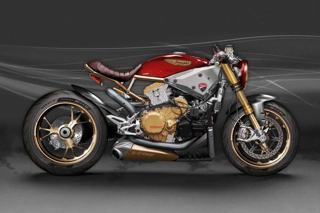 ducati 1199 panigale caf racer concept by ad koncept. Black Bedroom Furniture Sets. Home Design Ideas