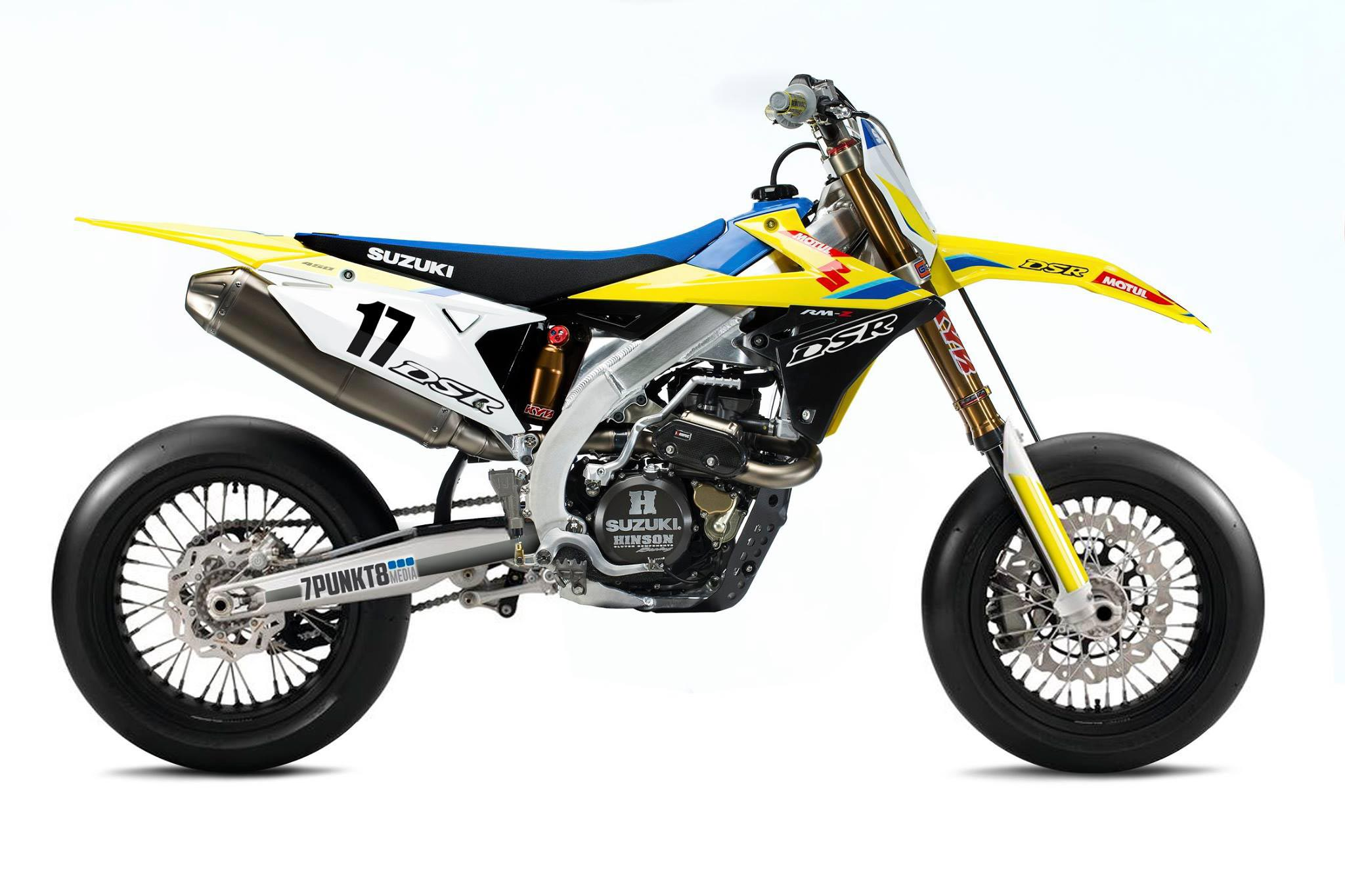 imagining the 2018 suzuki rm z450 supermoto asphalt rubber. Black Bedroom Furniture Sets. Home Design Ideas