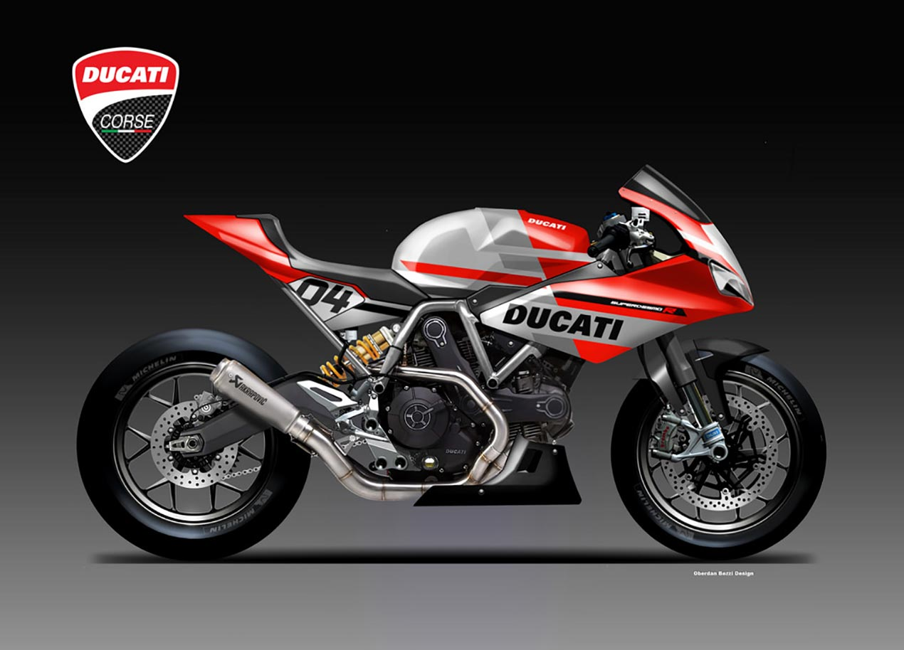 ducati supersport r concept by oberdan bezzi asphalt rubber. Black Bedroom Furniture Sets. Home Design Ideas