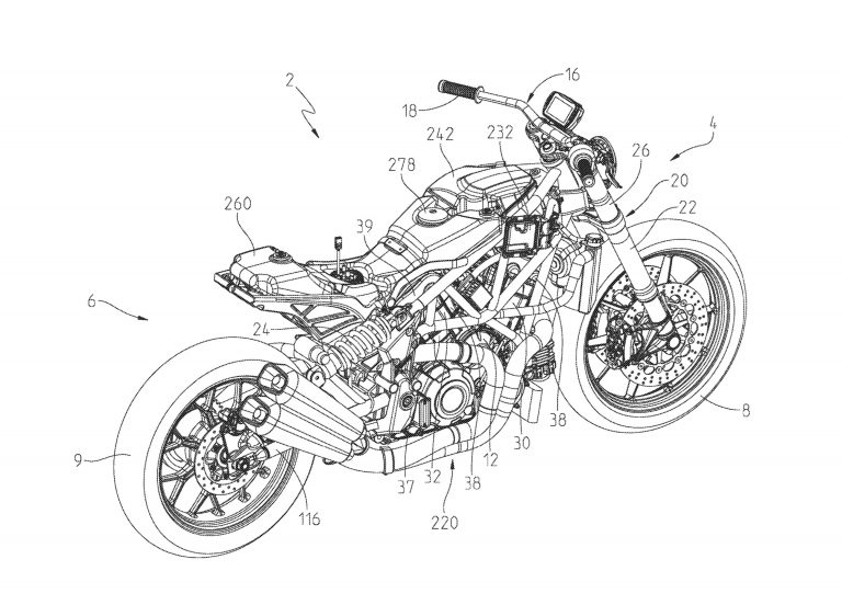patent application shows off the indian ftr1200 street