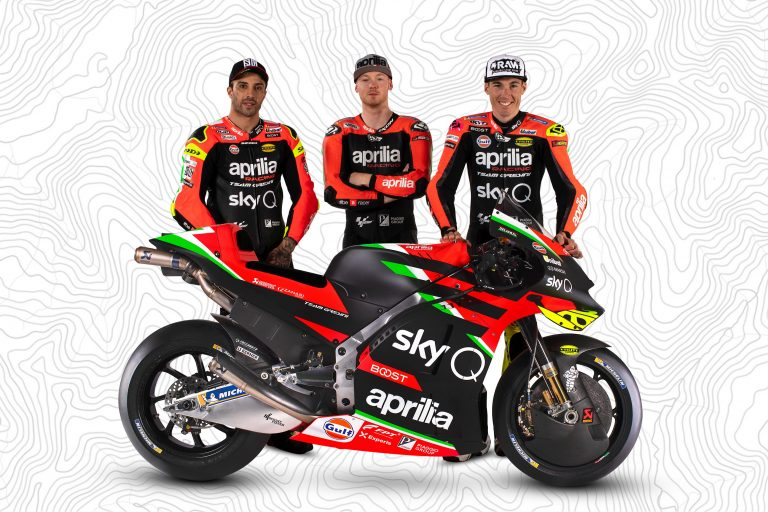 Aprilia's MotoGP Team Launch Perfectly Tells Their Story Right Now