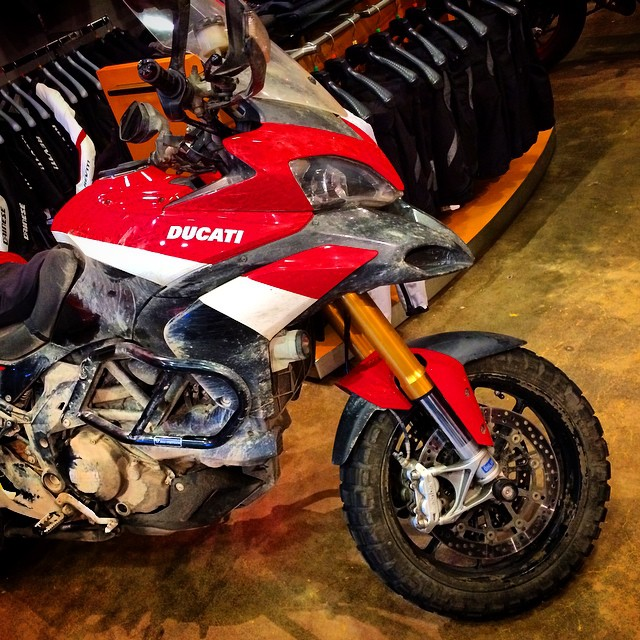 Check out this trailer queen at @motocorsa #ducati