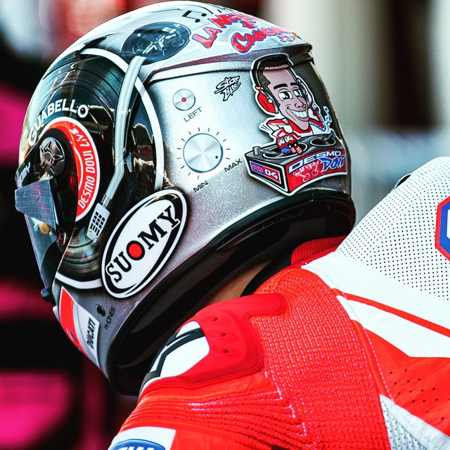 #DesmoDovi Has Wings at Mugello. And Apparently Really Loud Music. Photo: @tonygoldsmithphotography #Ducati #DucatiPeople #MotoGP #ItalianGP #Motorcycle #Moto #Motorbike #Race #Ride #Bike #BikeLife #InstaMoto #Italy #InstaGood #RaceWeekend #Music #Musica #MusicIsLife