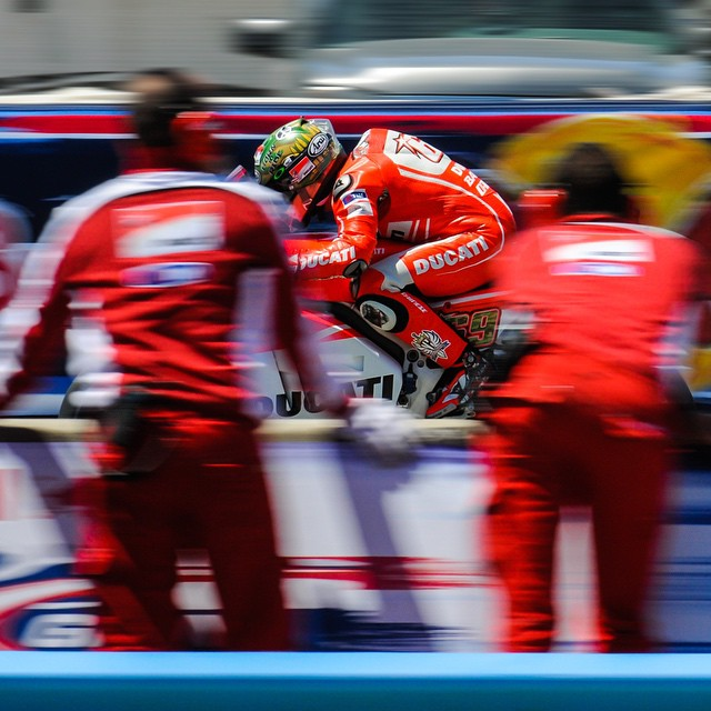 A little #tbt with @nicky_hayden at Laguna Seca. #Ducati #MotoGP