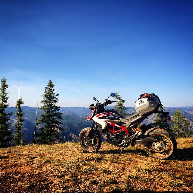 Oh the places you'll go... #Broventure #ducati #hypermotard #oregon #adv