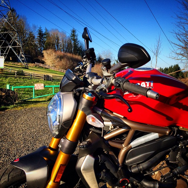 Sunny day here in #PDX - I think I made a new friend. #Ducati