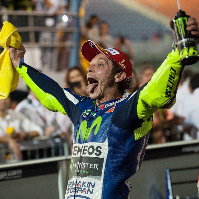 @valeyellow46 had a better Sunday than you did. Photo by @tonygoldsmithphotography #MotoGP #QatarGP #VR46 #Yamaha