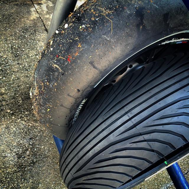 Tire comparison. #MotoGP #SIC #Malaysia
