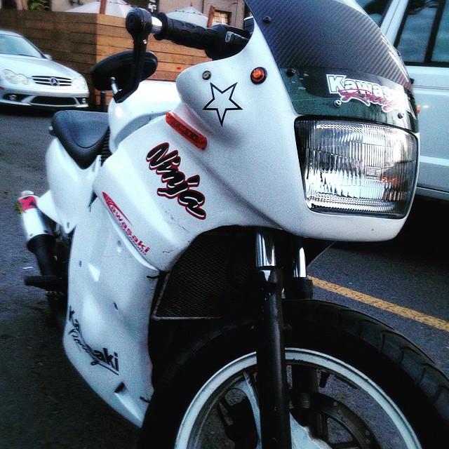 Bikes of Woodstock. #Kawasaki #Ninja #Moto #Motorbike #Motorcycle #Bike #BikeLife #InstaMoto #InstaGood #Ride #Portland #Oregon #Design #TGIF #KeepPortlandWeird #Rider #InstaBike