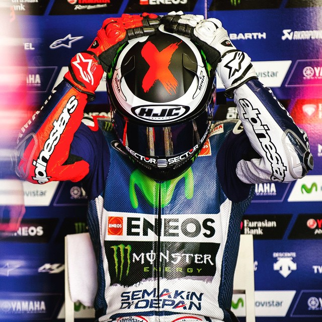 Keep It Together, Jorge. Another Helmet Change. Photo: @tonygoldsmithphotography #JL99 #JorgeLorenzo #Yamaha #MotoGP #ItalianGP #Mugello #Moto #Motorbike #Motorcycle #Bike #BikeLife #InstaBike #InstaMoto #Rider #Race #Speed #Leather #Helmet