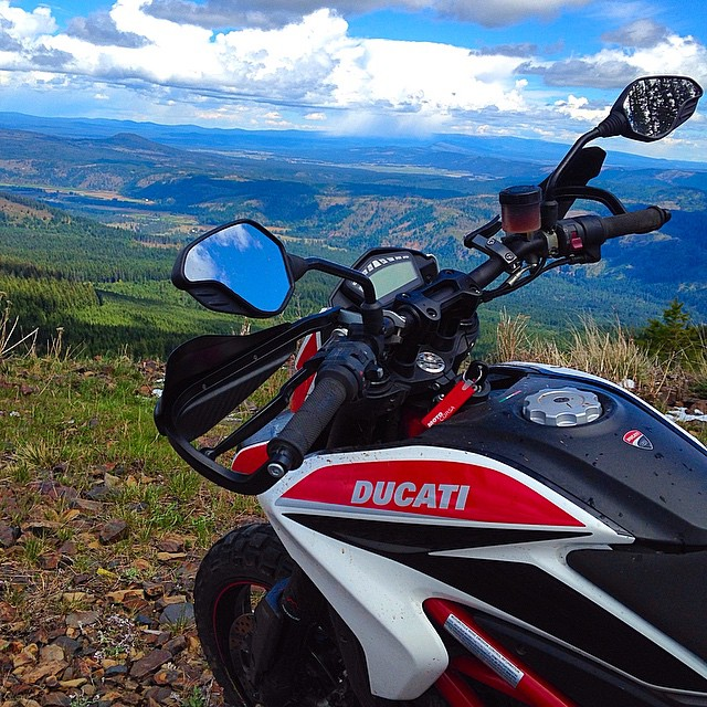 No Filter Necessary. #Ducati #Hypermotard #Moto #Motorbike #Motorcycle #Motorsport #Bike #BikeLife #InstaMoto #InstaGood #Nature #Ride #Outdoors #Weekend #Washington