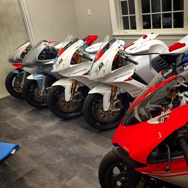Nice garage. #MotoCzysz #Ducati