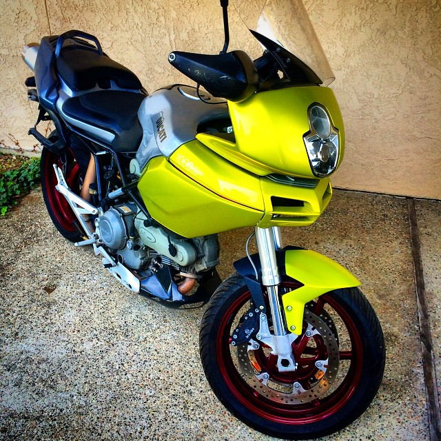 Honey...who did this to you? #Ducati #colorblind