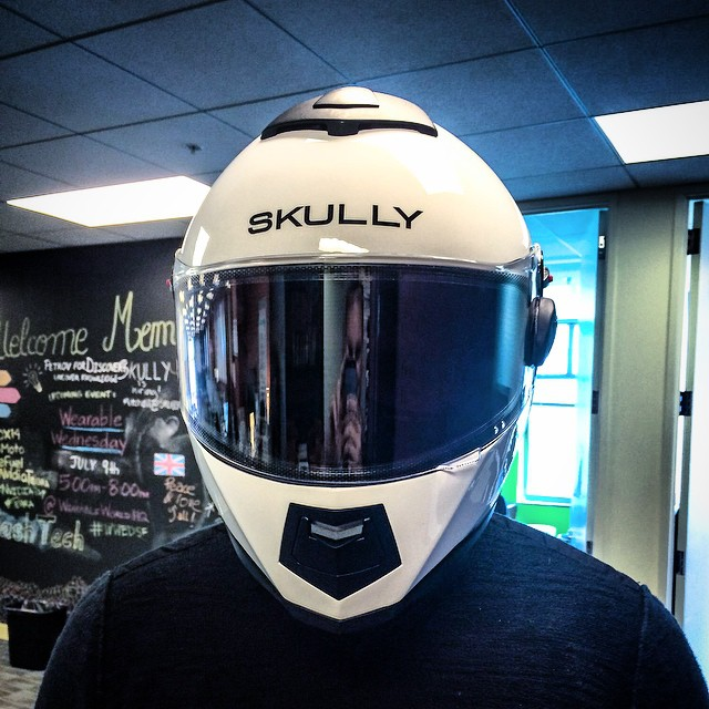 Kicked the tires on the Skully AR-1 helmet today -- this must be what Daft Punk feels like on a daily basis....except, you know, less French.