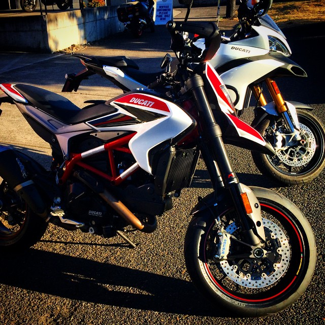 Don't tell mom. #itfollowedmehome #ducati #hypermotard #getabiggergarage